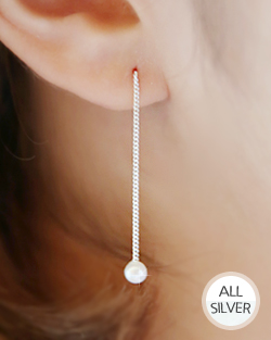Swaying pearl earring (er1584)
