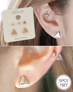 5pcs triangular earring (er1577)