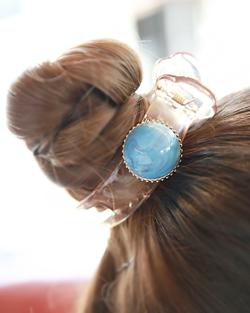 simple turquoise tongs hairpin pin (hp008)