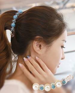 Turquoise Banana Hairpin pin (hp012)
