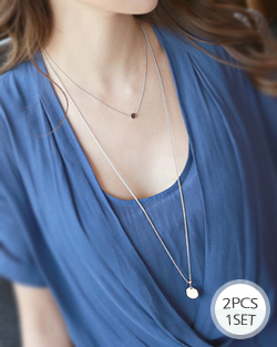 City Ladies two lines Long Necklace (nk005)