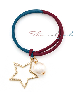 Stars and pearl hair strap (hs313)