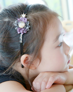 Freesia Flower hairband (hb497)