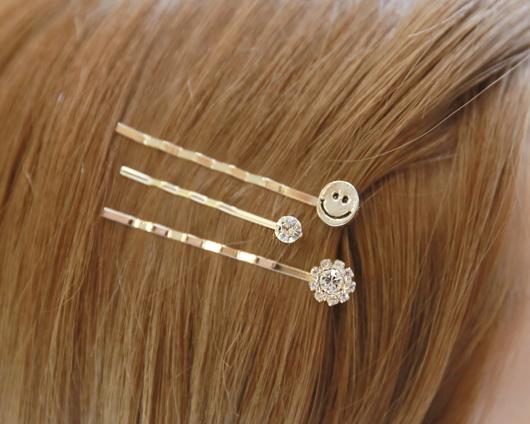 3pc Smile Hairpin (hp440)