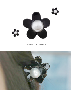Hazel Flower pearl pin clamp (hp431)