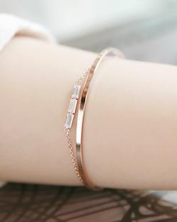 Square triple bracelet (br597)