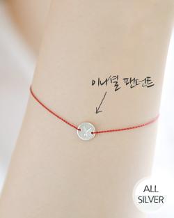 Circular alphabet bracelet (br016)