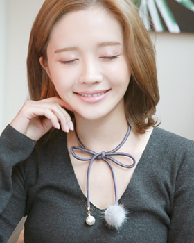 My right marshmallows Necklace (nk026)