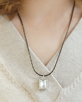 Square not a square Necklace (nk476)