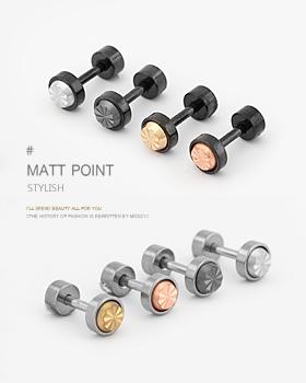 Matt Stone Earrings 6mm (er024)