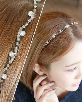 Pearl along the line hairband (hb350)