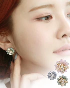 Lemon flower earring (er1697)