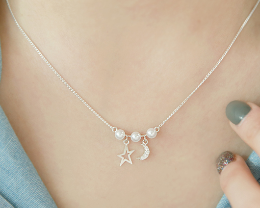 Byeoldal Pearl Necklace (nk519)