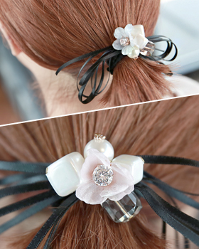 Misty Flower Hair Strap (hs304)