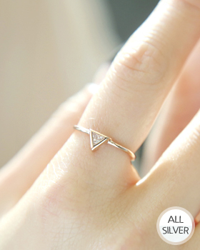 Shiny Triangle Ring (rg399)