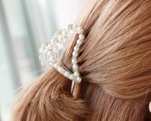 Bling Heart tongs hairpin (hp449)