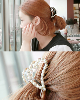 Bling Heart tongs hairpin (hp449)