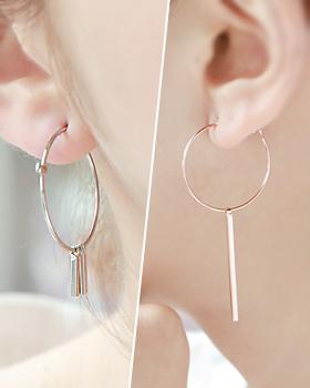 Stopped love earring (er453)