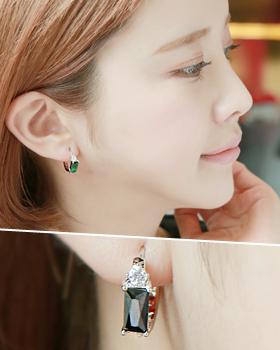 Geranium one-touch earring (er1560)