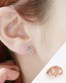 Small heart earring (er1686)
