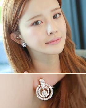 Circle earring in circle (er1394)