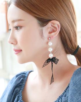 Ribbon lace earring (er1744)