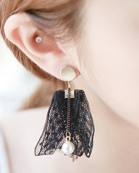 Layered lace earring (er1743)