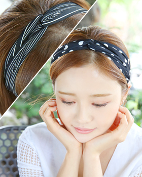 Black and black hairband (hb524)