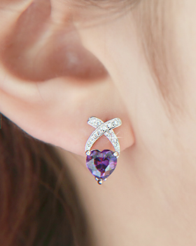 Heart bundle earring (er1158)
