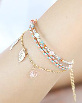 Deciduous beads bracelet (br605)