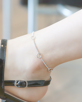 Chain rings anklets (ak084)