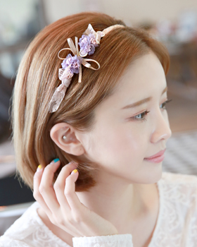 Flower lace hairband (hb534)