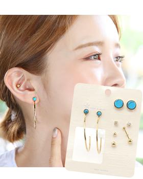 Turquoise in love earring (er1768)