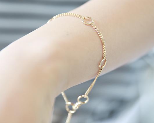 Chain ring bracelet (br621)
