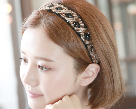 Diamond beads hairband (hb580)