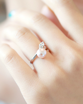 Pearl Circle Ring (rg507)