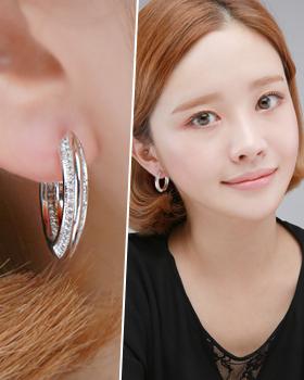 One ring earring ring (er1813)