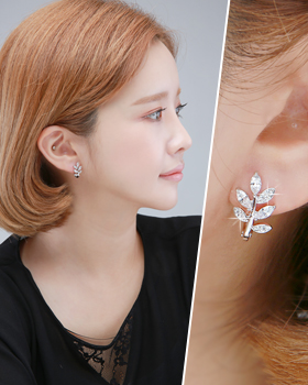 One-touch butterfly earring (er1841)