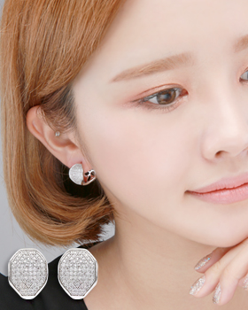 Line-type one-touch earring (er1822)