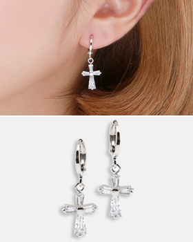Croissant one-touch earring (er1832)