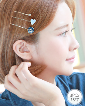 Heart crown hairpin (hp457)