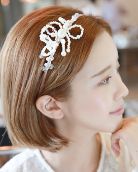 Bead pearl hairband (hb531)