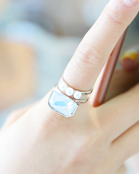 Square Pearl Ring (rg506)