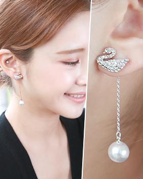Pair of swans earring (er1741)