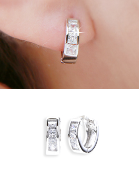 One-touch earring in barbara (er1834)