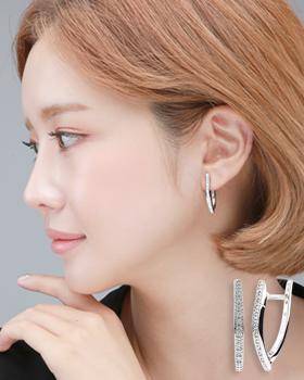 One touch zip-earring (er1846)