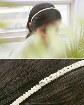 Pearl hairband in chain (hb568)