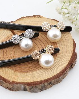 Pearl Mickey Hairpin (hp477)