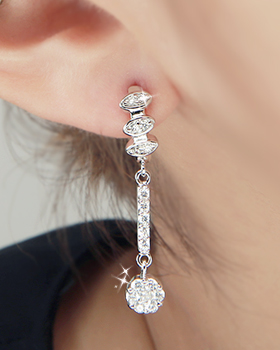 Distant tree one-touch earring (er1818)