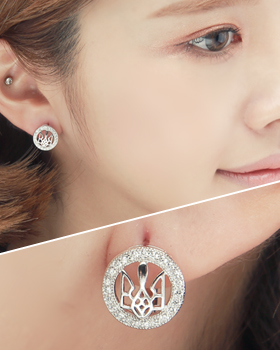 One-touch lapel earring (er1838)
